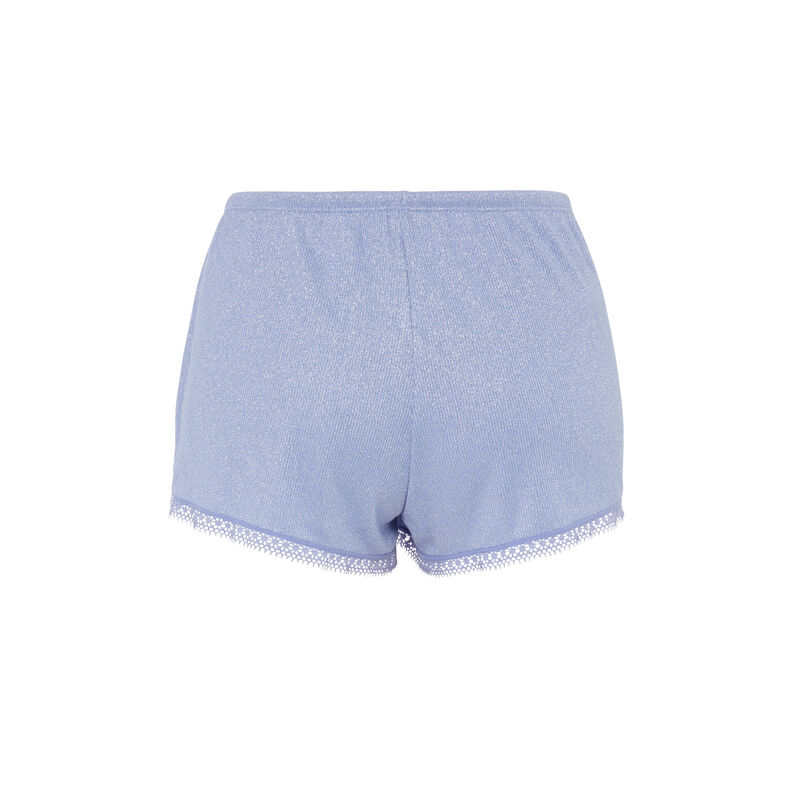 Short en jersey brillant luximiz - bleu ;