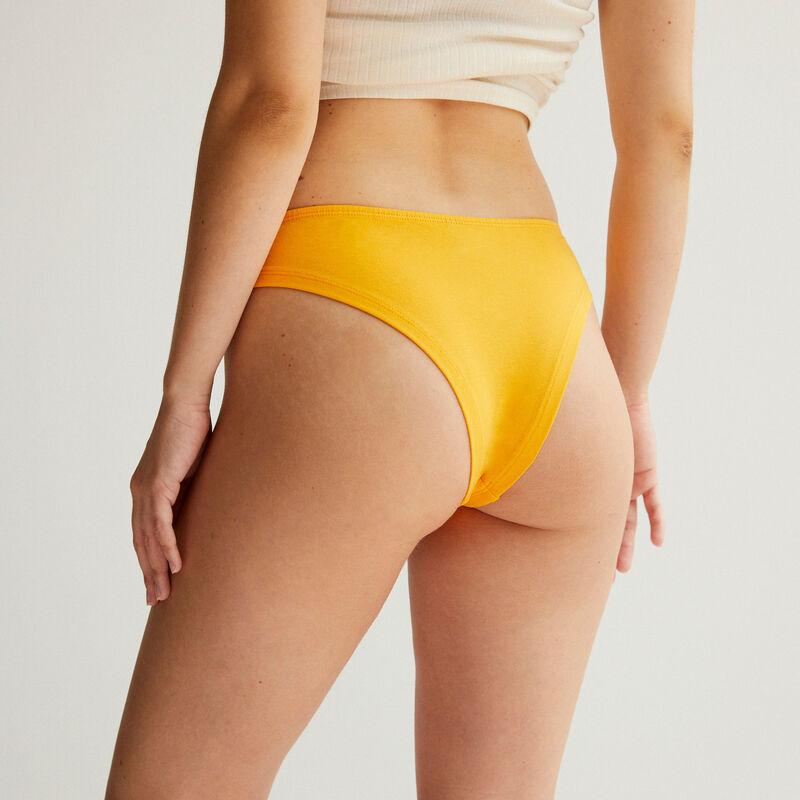 culotte en coton uni - orange;