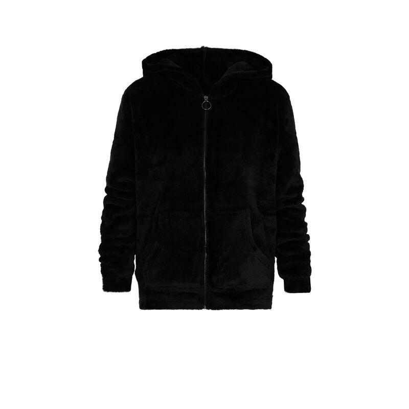 sweat polaire zippé - noir ;