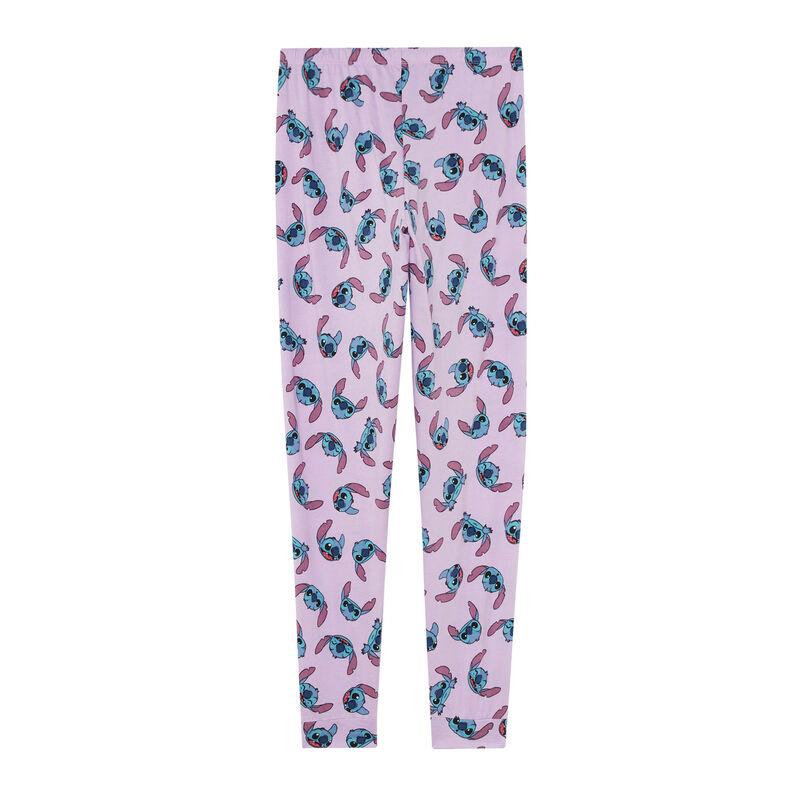 pantalon imprimé Stitch - violet;