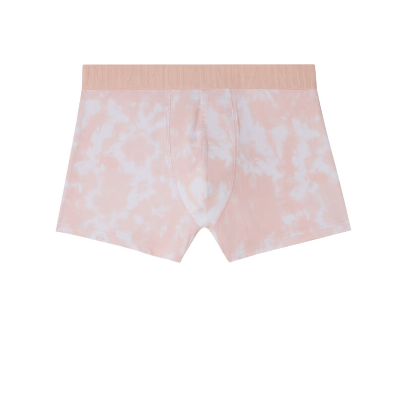 boxer à motifs tie and dye - rose;
