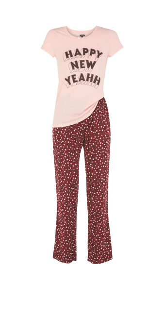 Ensemble de pyjama rose happyniz pink.