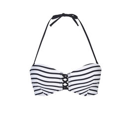 Marineriz black/white bikini top white.