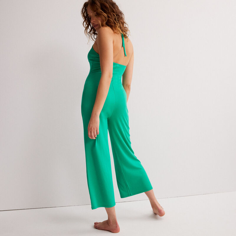combinaison pantalon dos nu - vert;