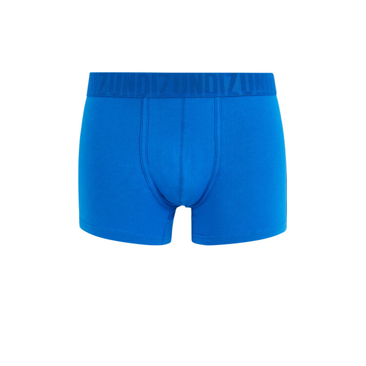 Boxer en coton bio uni bleu roi.