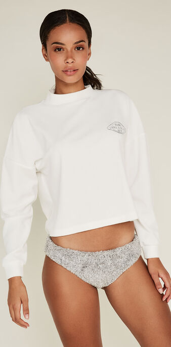 Sweat blanc cassé minipatchiz white.