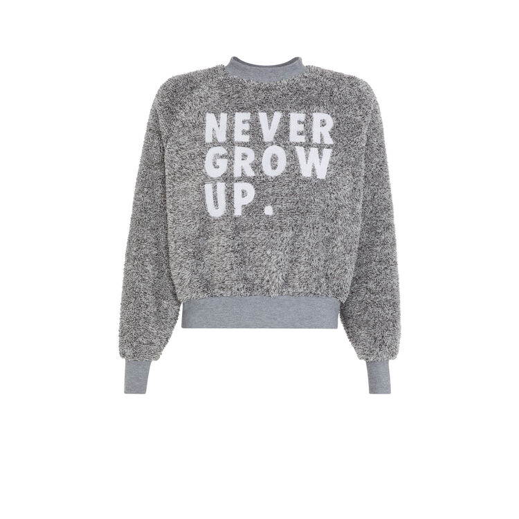 Sweat gris nevergrowiz grey.