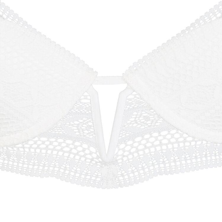 Soutien-gorge bustier push blanc elenoriz white.