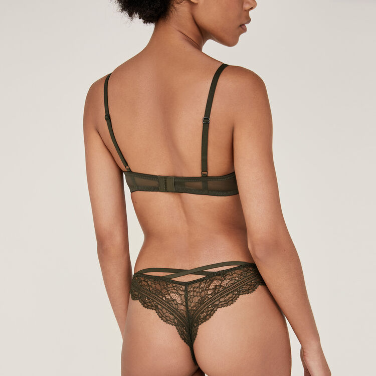 Soutien-gorge push kaki everydayiz green.