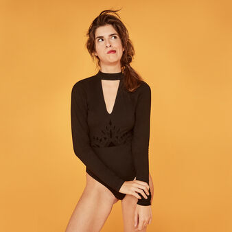 Coudecoltiz black bodysuit black.