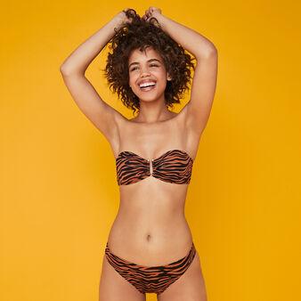 Bas de maillot de bain slip marron afrozebriz brown.