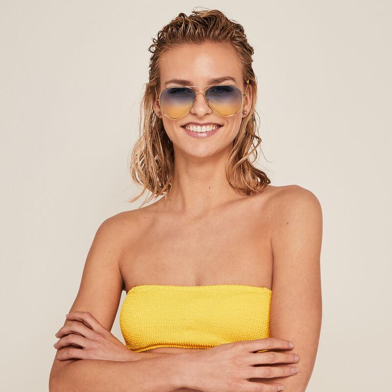 Haut de maillot de bain bandeau - jaune;