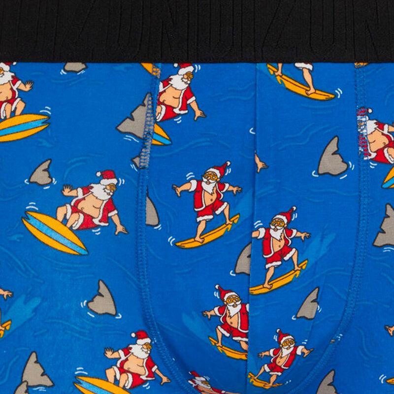 boxer en coton à imprimé santasurfiz;