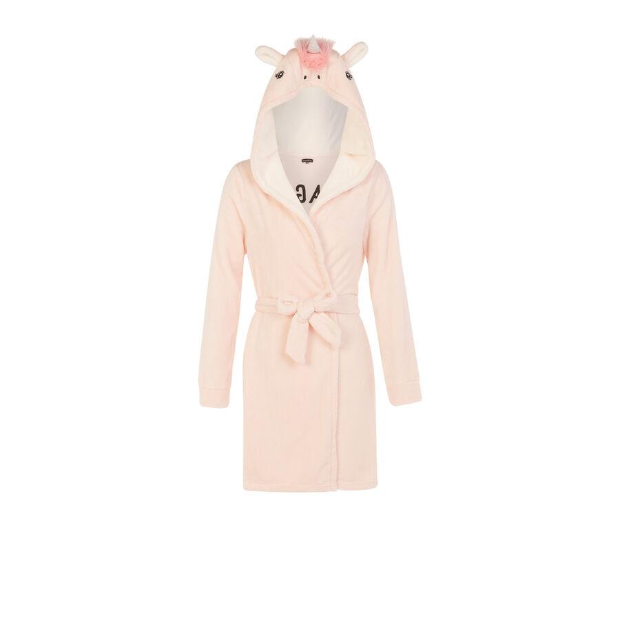 Unikeniz pale pink bathrobe;${refinementColor}