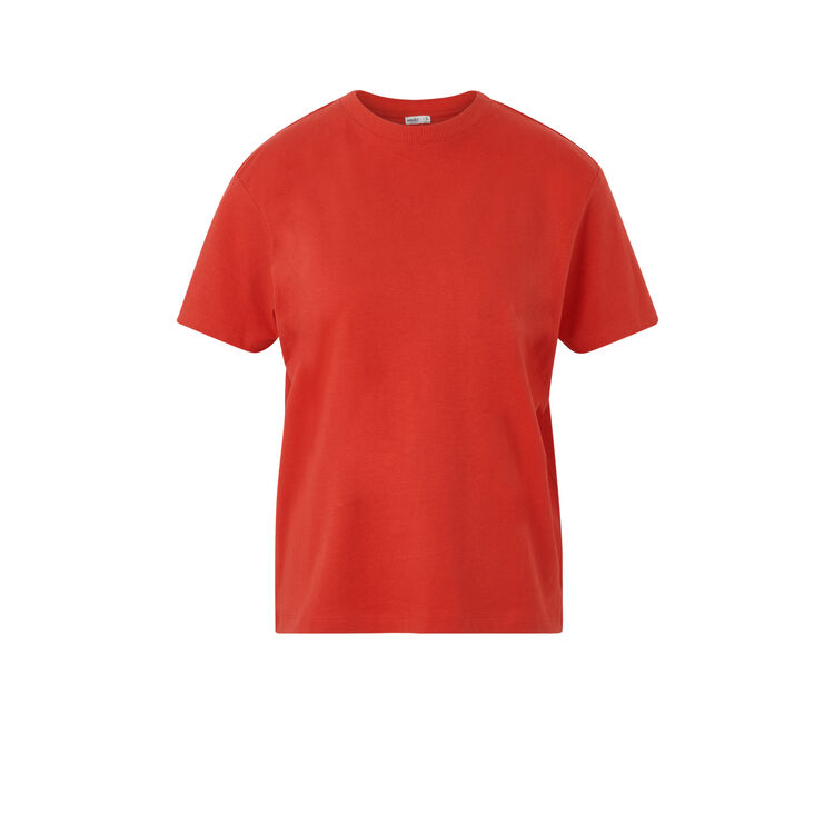 Top en jersey uni reduniz rouge.