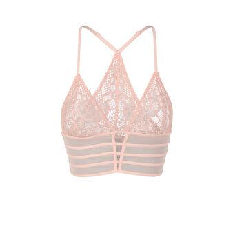 Soutien-gorge triangle rose pâle avriliz  pink.