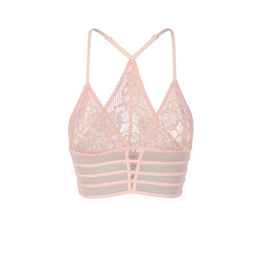 Soutien-gorge triangle rose pâle avriliz ;