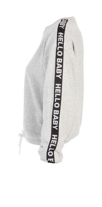 Hellobabiz light grey sweatshirt grey.