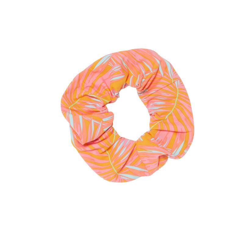 chouchou imprimé exotique - orange;