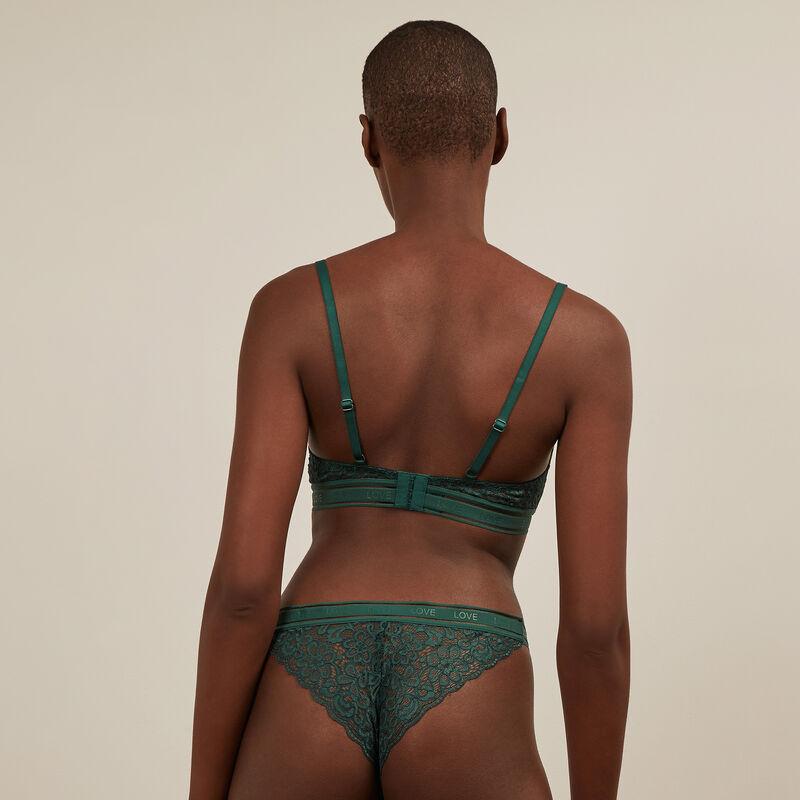 Culotte en dentelle - vert;