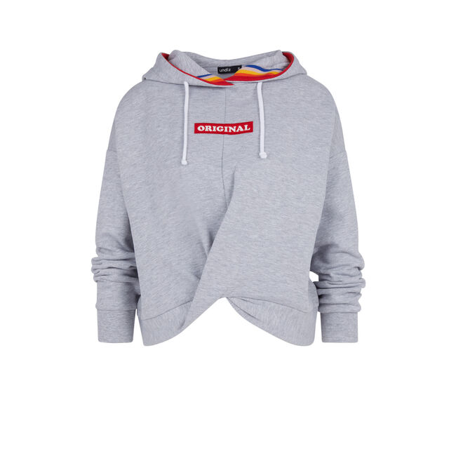 Sweat gris microisiz;
