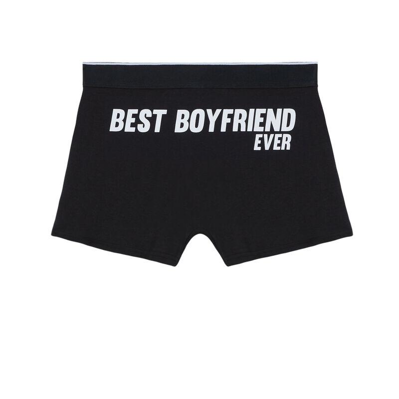 boxer à imprimé best boyfriend ever - noir;