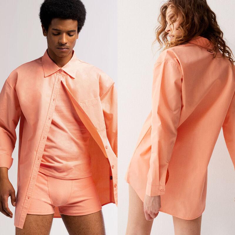 chemise unisexe - pêche;