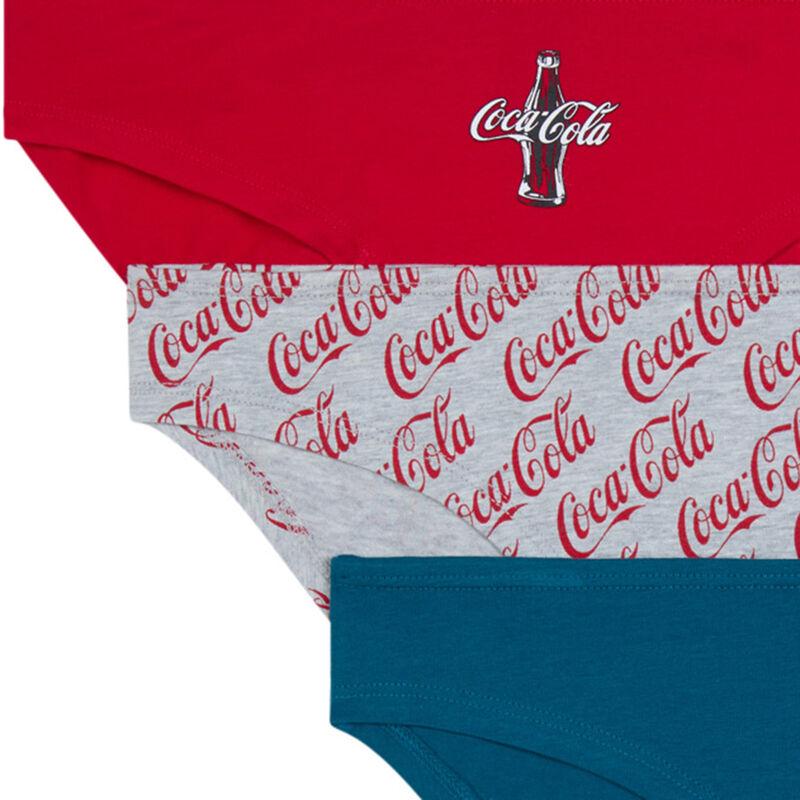 Lot de 3 culottes coca-cola - gris;