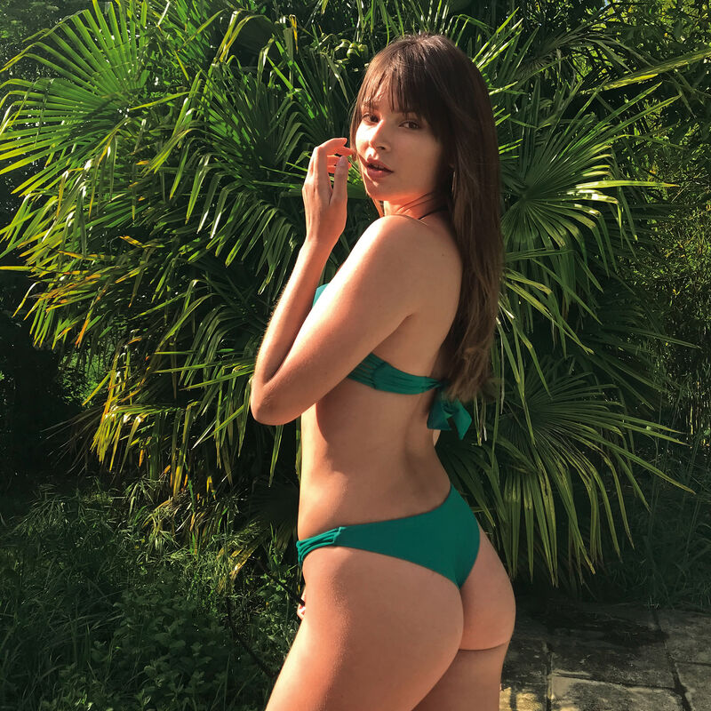 Haut de maillot de bain push-up - vert;