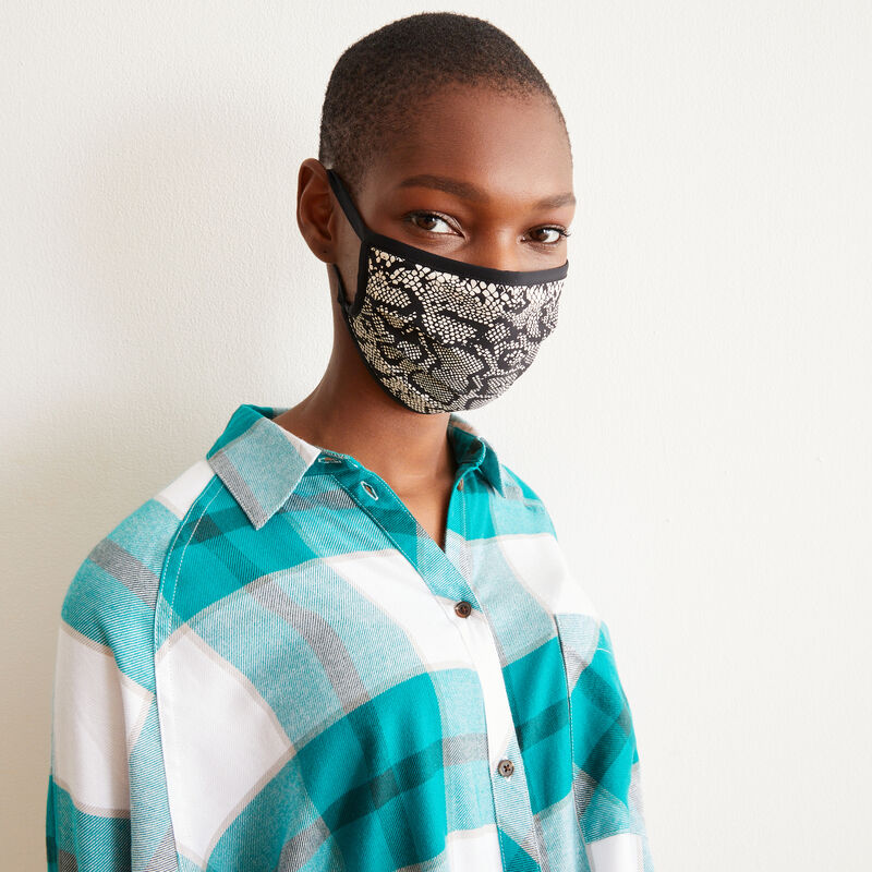 lot 3 masques noir/serpent - noir;