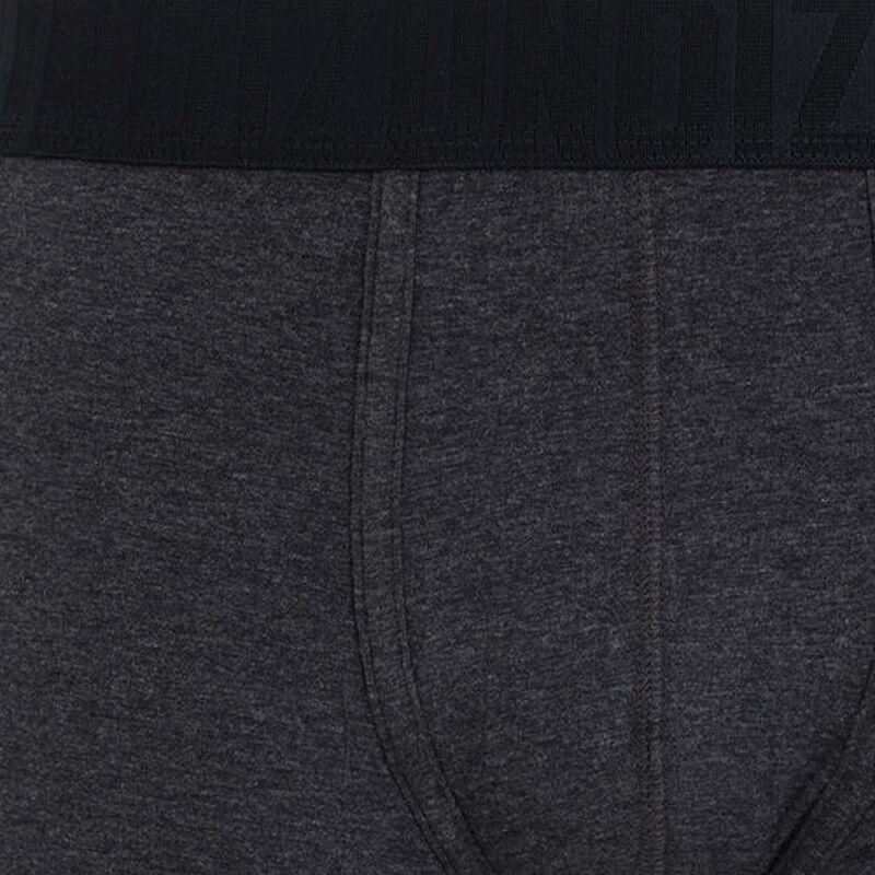 boxer uni coton bio - gris foncé;