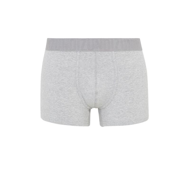 boxer en coton bio uni - gris;