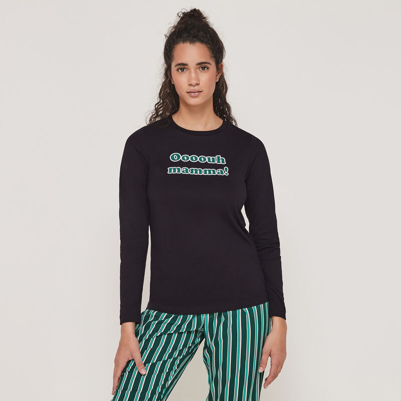 Set pyjama top + pantalon à message internewanniz;