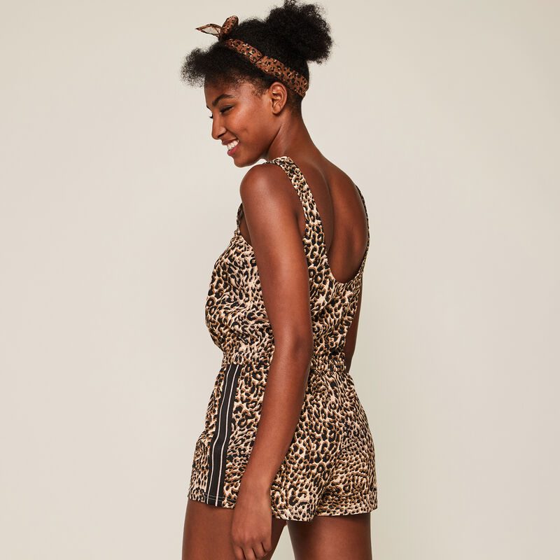 Combi-short en jersey imprimé léopard leoversiz;