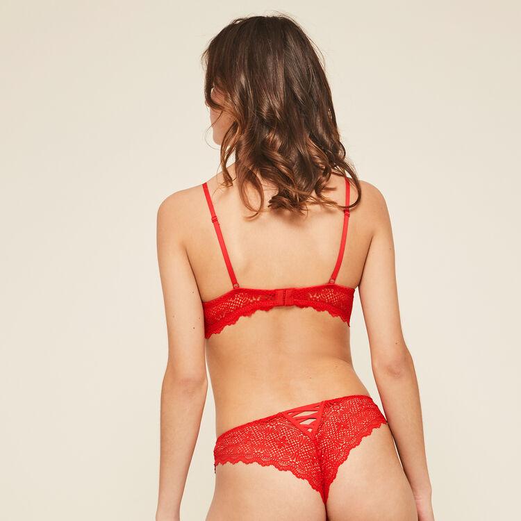 Tanga rouge mahaliz rouge.
