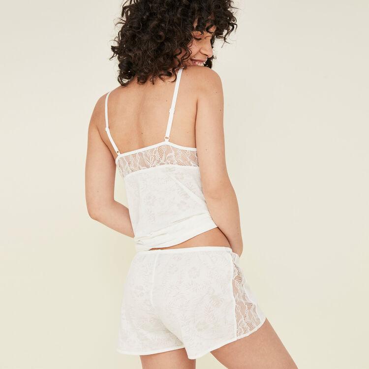 Short blanc tropaliz white.