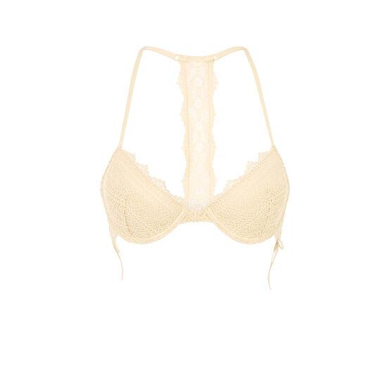 Soutien-gorge ampli jaune pâle picontiz;