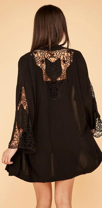 Kimono noir kimonocrochiz black.