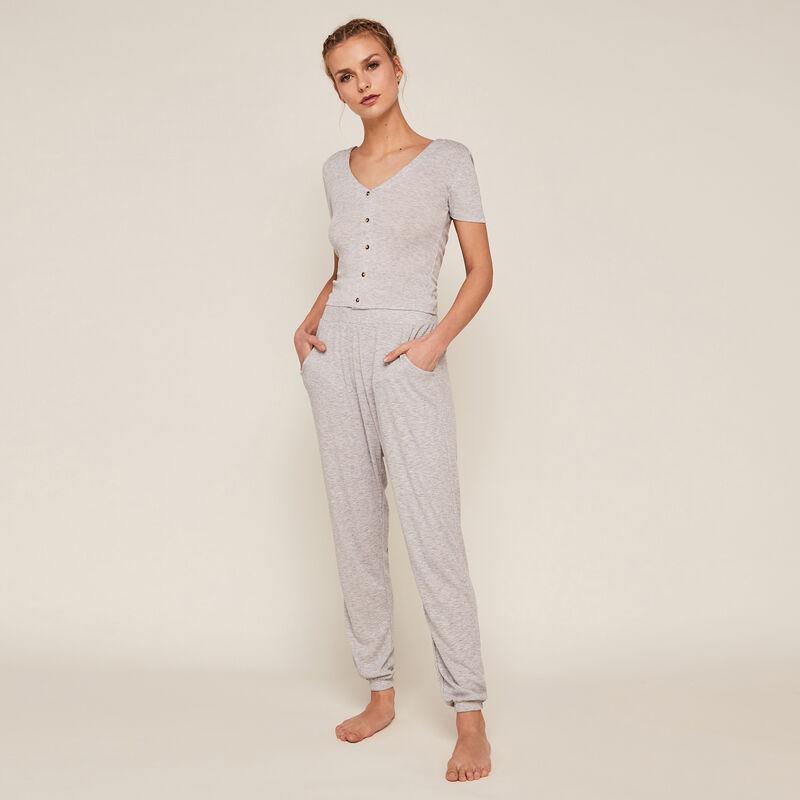 pantalon à poches - gris ;
