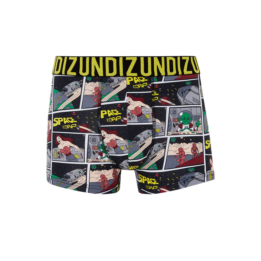 Spaciz black boxer shorts;${refinementColor}