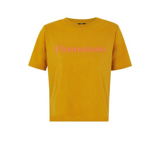 Top jaune moutarde flemminiz;
