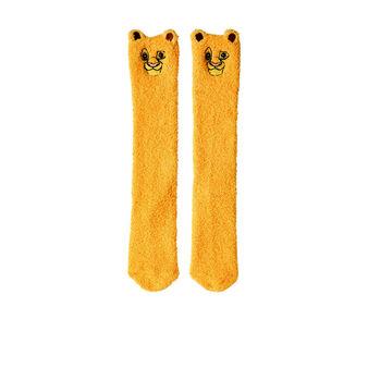 Chaussettes hautes jaunes simbabiz yellow.