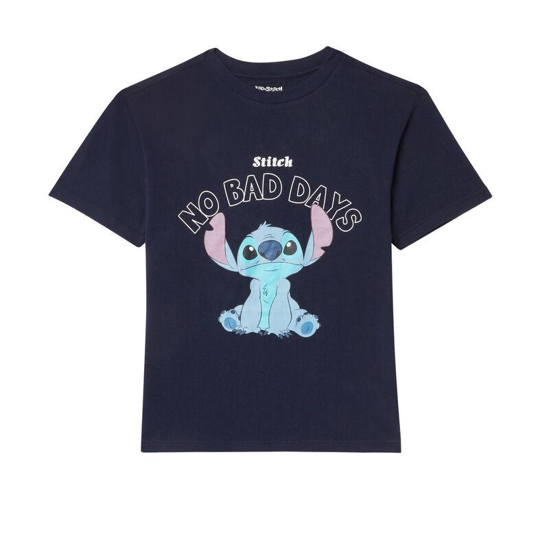 "top ""no bad days"" stitch - bleu marine;"