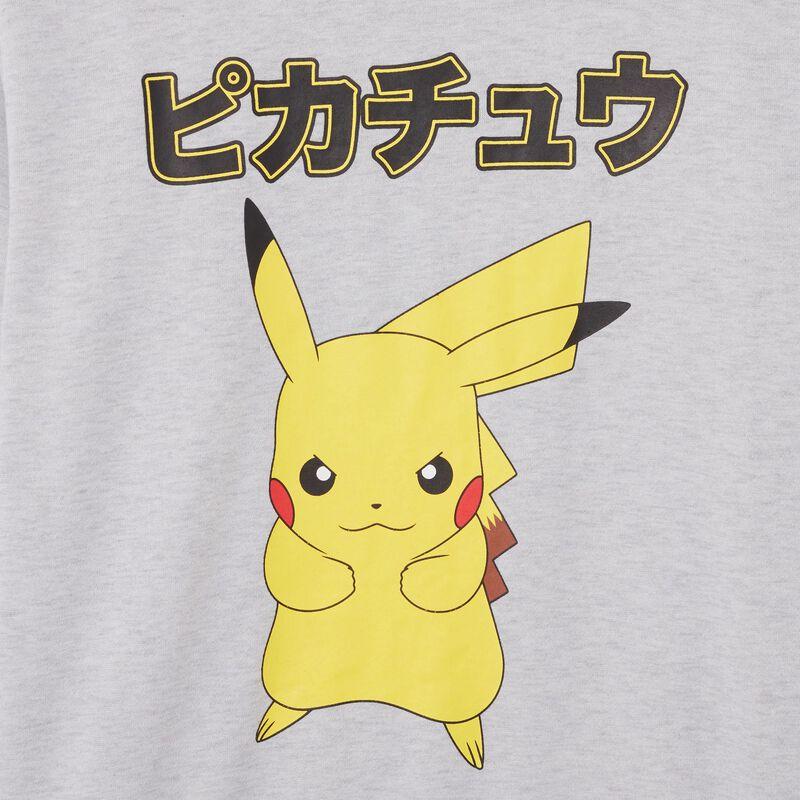 sweat Pikachu - gris;