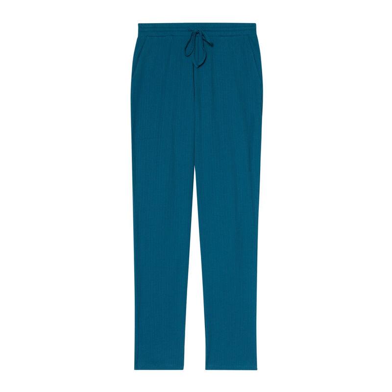 pantalon en jersey - bleu ;