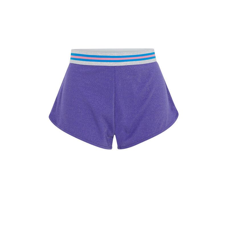 Short court détail ceinture - violet;
