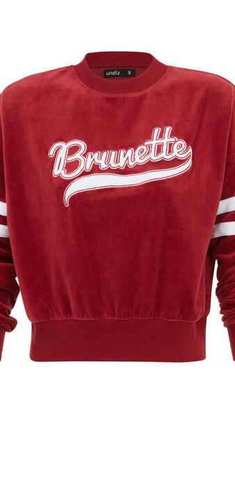 Sweat bordeaux teambruniz biking red.