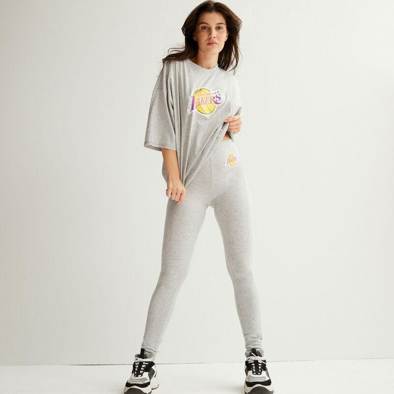 legging los angeles lakers - gris;