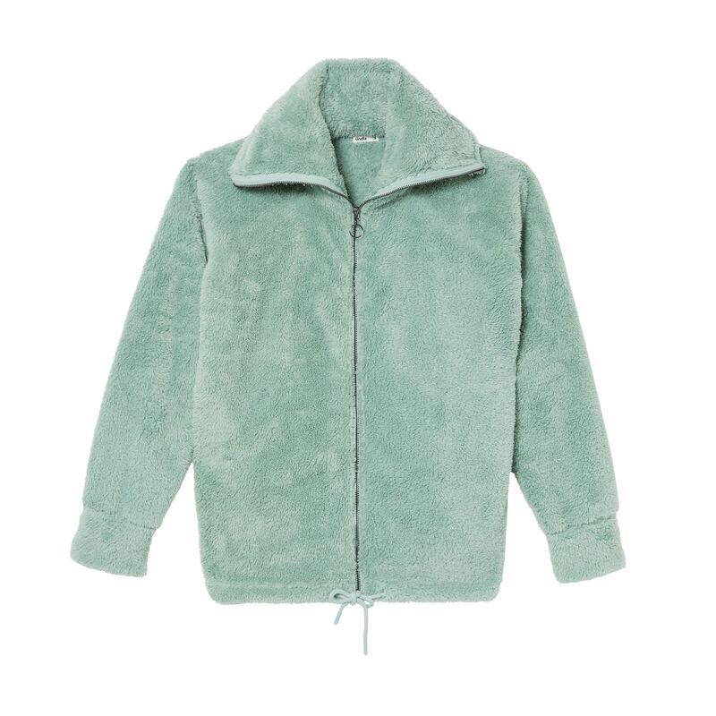 veste en polaire à zip - vert d'eau;
