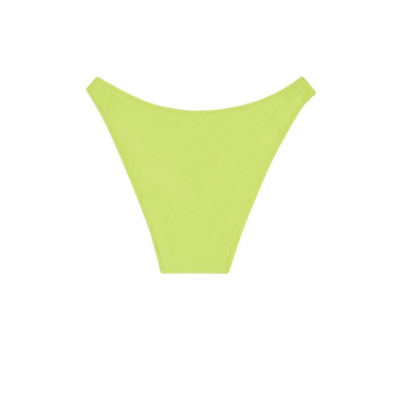 Bas de maillot de bain culotte échancrée - vert;